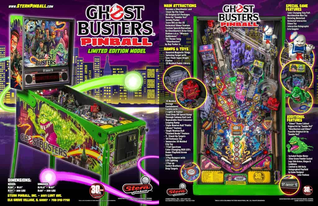 Ghostbusters-Limited-Edition-pinball-machine-flyer-stitched
